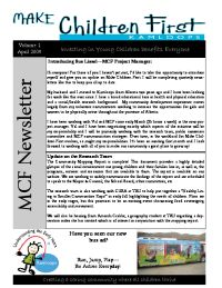 MCF Newsletter Vol 1 Apr 09